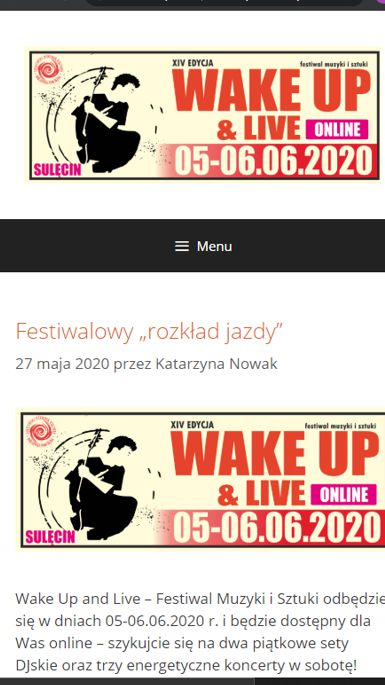 Festiwal Wake Up & Live